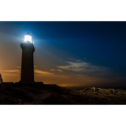 Port-Vendres: vue nocturne de son phare