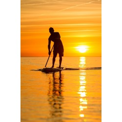 Stand up paddle au soleil levant